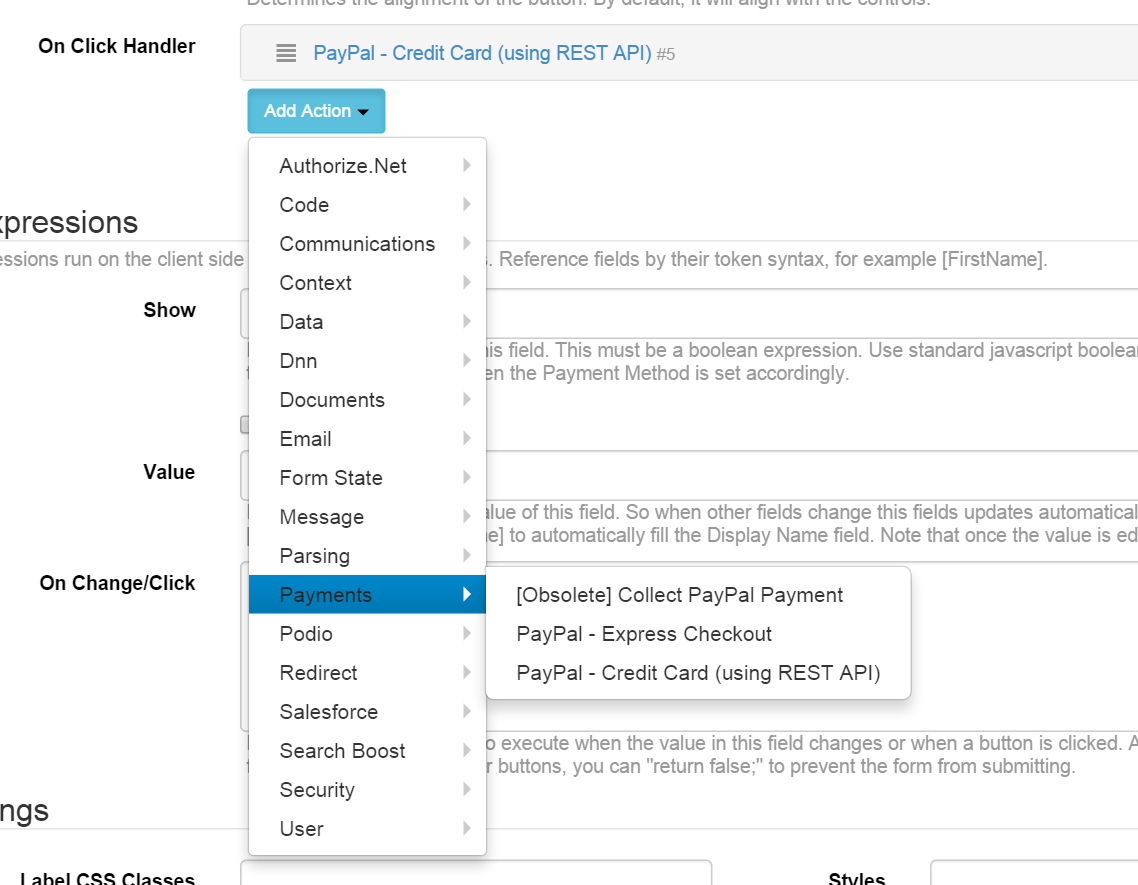 PayPal - Credit Card (using REST API) | DNN Sharp Documentation Center